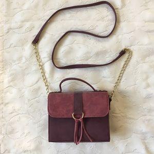 purple suede purse!!